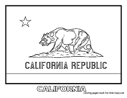 California Coloring Sheets California State Flag Coloring Pic At