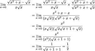 Cara cepat menyelesaikan limit tak hingga bentuk akar akan saya berikan di akhir tulisan ini, sekarang fokus aja nah sekarang kamu sudah tau cara menyelesaikan limit tak hingga dalam bentuk akar. Soal Limit Aljabar Yang Diselesaikan Dengan Perkalian Sekawan