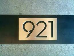 custom house number plaques astonishing made ideas cool design signs modern plaque glass