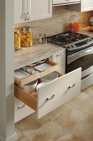 deep drawer base cabinet with rollout