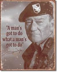 Image result for caricature of john wayne in the army