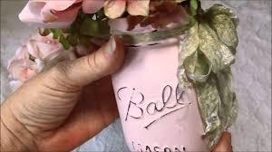 Painted Mason Jars Shabby Chic Painted Altered Mason Jars Youtube