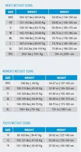 150 Cm Size Chart Aqua Sphere Size Guide