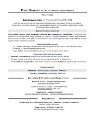 Cio Sample Resume Chief Information Officer Resume It Resume