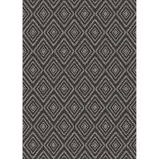 ruggable washable prism black 5 ft x 7 ft stain resistant area rug