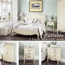 vintage chic bedroom furniture. Juliette Shabby Chic Champagne Double Bed 5pc Bedroom Furniture Vintage O