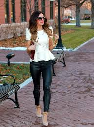 red leather pants chic leather panst