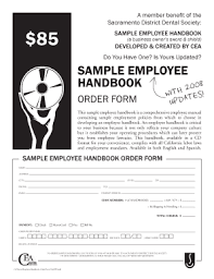 Free Sample Employee Handbook Template Forms - Fillable & Printable ...