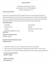 Interesting Decoration Early Childhood Education Resume Early