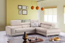 Buy Modern Furniture Impressive JM A48 Modern Cream Full Top Grain Leather Italian Sectional Sofa