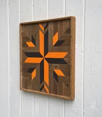 wood wall art orange and black wall decor gift geometric design southwest on southwestern wood wall art with wood wall art orange and black wall decor gift geometric design