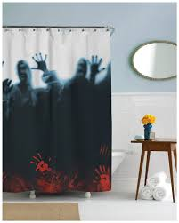 Halloween Bathroom Accessories 21 Horror Inspired Shower Curtains To Creep Up Your Home Riot Daily