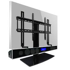 Tv stand and mount 65 Inch Universal Tv Stand Kit With Bluetooth Soundbar And Soundbar Mount Aeon Tv Mounts Universal Tv Stand Kit With Bluetooth Soundbar And Soundbar Mount