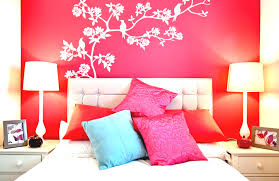 simple wall painting designs for bedroom trends and design images stylish ideas with bright red white