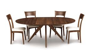 catalina round dining table in walnut