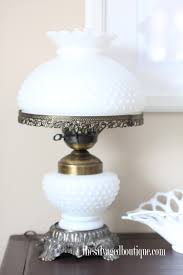 milk glass hobnail lamp a milk glass collection