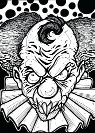 Horror Coloring Pages Printable Scary Clown Pictures To Color Clown