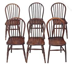 Set Of 6 Spindle Back Ash Kitchen Dining Chairs Antiques Atlas Antique Spindle Back Dining Chairs