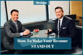 How To Make Your Resume Stand Out Adorable How To Make Your Resume Stand Out KARE 60 Interview Versique