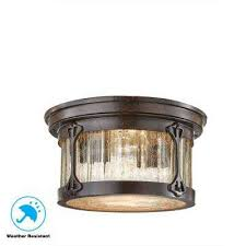 lamont 2 light chestnut outdoor flushmount
