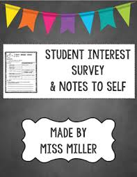 Surveys Formats Student Interest Surveys And Writing Prompts 4 7 Back 2