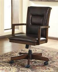 durable pvc home office chair. devrik brown wood home office desk chair durable pvc