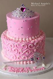 Simple Pink Princess Cake For Kaylee And Briannas Party Put Both