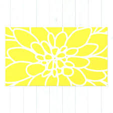 chevron rug yellow yellow and white rug modern dahlia flower rug area rug yellow and white
