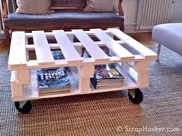 7 step pallet coffee table