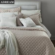 Fashion Summer Bedspreads, Faux Silk Cotton Coverlet, Quilt ... & Fashion Summer Bedspreads, Faux Silk Cotton Coverlet, Quilt, Quilted  Bedspread, Stitching Comforter, Queen King Size-in Comforters & Duvets from  Home ... Adamdwight.com