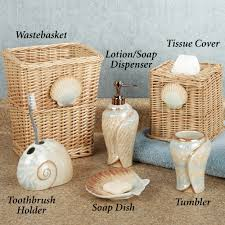 Decorative Bathroom Accessories Sets Seashell Accessories For Bathroom Home Design Ideas and Pictures 80