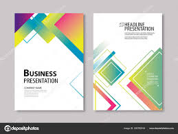Book Report Poster Template Abstract Modern Geometric Cover Brochure Design Template