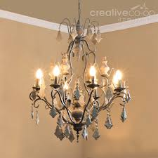 wood and crystal chandelier beads painted crystals creative co op home with 1000x1000px
