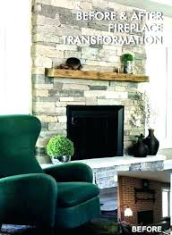 fireplace refacing fireplace with stone veneer a brick install cost to reface b