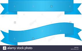 Blue Ribbon Design Two Blue Ribbon Banners Stock Photo 177384929 Alamy