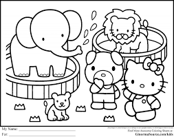 Free Hello Kitty Coloring Pages Pdf With Hello Neighbor Coloring