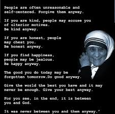 Mother Teresa Quotes Love Anyway Impressive Mother Teresa Quote Love Them Anyway Endearing Download Mother To