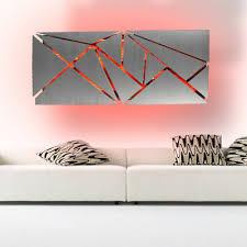 modern large geometric abstract metal