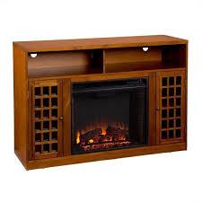 southern enterprises akita media electric fireplace in glazed pine fe9302