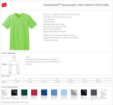 Hanes T Shirt Size Chart Arts Arts