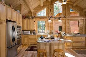 Brilliant Rustic Cabin Kitchens Light Wood Chic Kitchen Tin Throughout Design Ideas