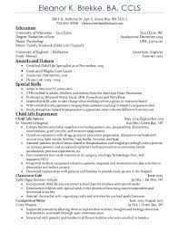 Child Life Resume. Eleanor K. Brekke, BA, CCLS 2881 St. Anthony Dr. Apt. ...