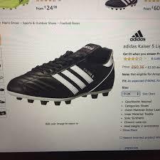 Adidas Kaiser 5 Football Boots Black And White Uk Depop