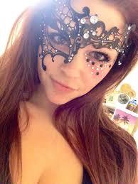 masquerade makeup with mask