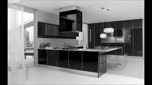 black and white kitchen design pictures. ultra modern black and white kitchen decorating interior design - youtube pictures s