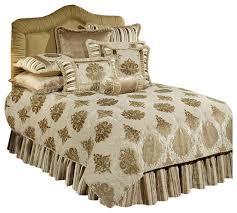 austin horn classics minuet 4 piece bedding collection taupe queen