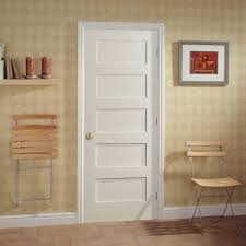 Small Interior Doors Masonite Mdf Series Smooth 5 Panel Equal Solid Core Primed