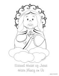 Small Picture Sacred Heart of Jesus and Immaculate Heart of Mary coloring page