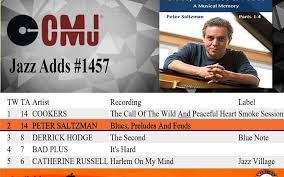 Peter Saltzman Debuts At 2 On The Cmj Top Jazz Adds Chart