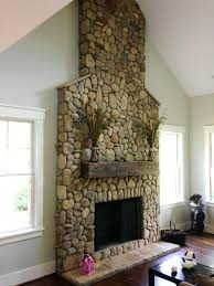 Stone Fireplace Designs With Tv Above Wall Rock Surround Ideas